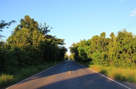 on the road and the destination