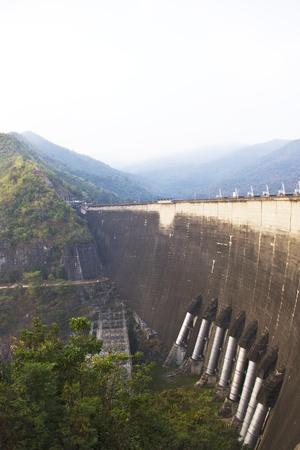 bhumiphol dam in Tak, Thailand  Stock Photo