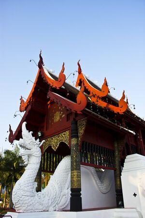 buddha image at chiang mai temple  Stock Photo