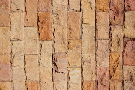 Brick walls are made of sandstone photo