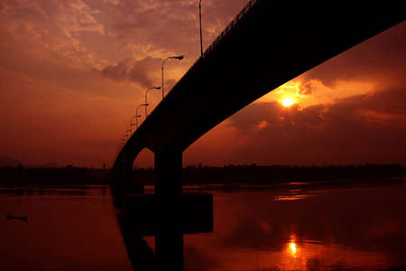 Bridge across the Mekong River, Thailand, Laos