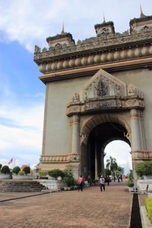 Archway in Vientiane, Laos  Stock Photo - 15438679