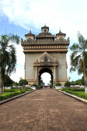 Archway in Vientiane, Laos  Stock Photo - 15438680
