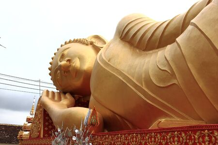 Lying Buddha image in   Vientiane Laos   Stock Photo - 15446314