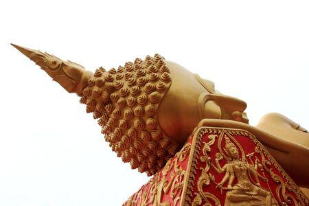 Lying Buddha image in   Vientiane Laos