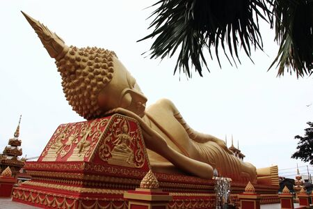 Lying Buddha image in   Vientiane Laos   Stock Photo - 15438677