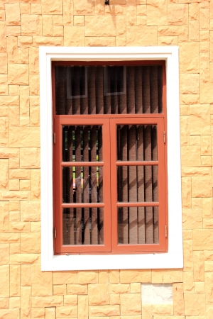 Window with a brick wall Stock Photo - 17052156