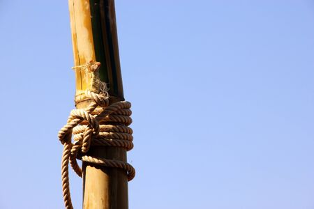 Knot tied with a rope