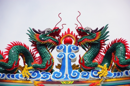 Chinese dragon statue of the god