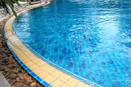 Path around the pool  Vacation resort  Stock Photo
