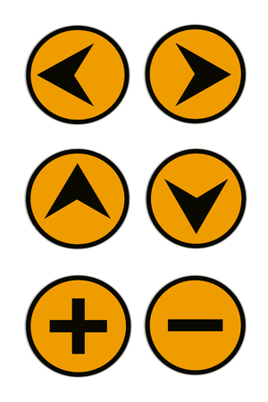 Traffic sign Traffic signs. For driving directions. Stock Photo