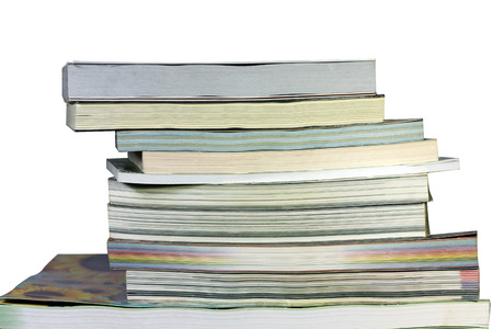 Old books on a white background  Stock Photo