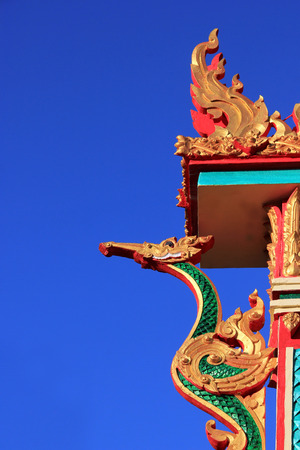 Dragon statue in Chinese temple Symbols of China Stock Photo