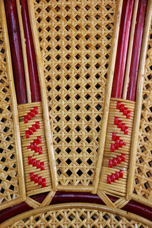 Striped woven from wicker basketry arts Africa. Stock Photo