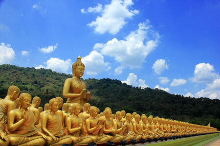 Buddha, Buddhism in China, Japan and Thailand. Stock Photo