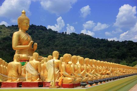 praye: Buddha, Buddhism in China, Japan and Thailand. Stock Photo