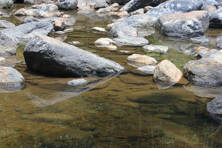 The beauty of the stone and river stone in a stream