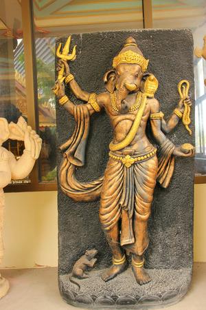 Statue of Vishnu in Hinduism 4 hands.