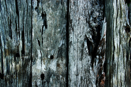 Old wooden planks for background black background. Stock Photo