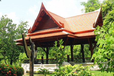 Resthouse building in Asia. thailand.