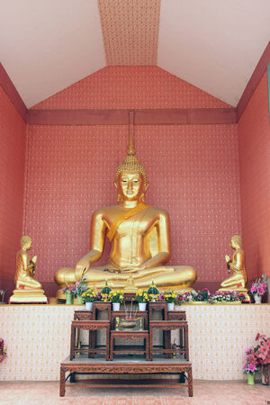 Buddhist statue Look calmly concentrate