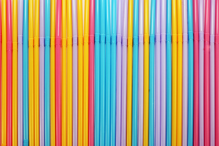 The beauty and diversity of drinking straw. Stock Photo