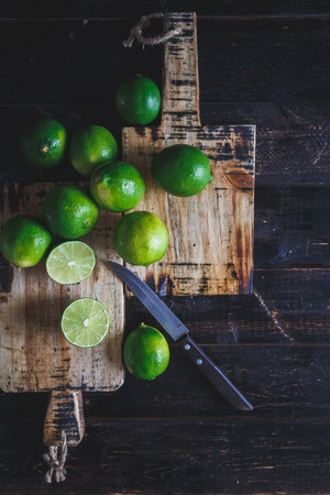 photography background: Green lemons