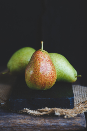 Fresh Forelle Pears Stock Photo
