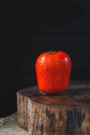 Fresh Persimmon Fruit Stock Photo