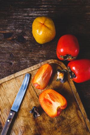 Fresh Persimmon Fruits