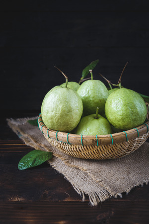 guava fruit: Fresh Guavas Stock Photo