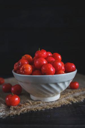 Fresh Barbados Cherry Fruits