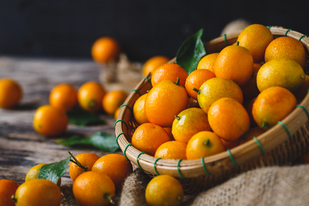 Fresh Kumquat Fruits Stok Fotoğraf