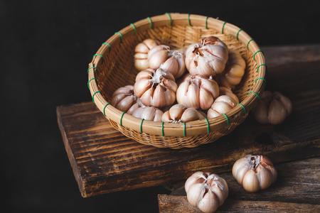 Garlics close up 스톡 콘텐츠