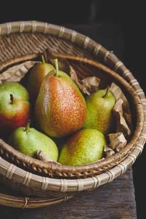 Fresh Forelle Pears Foto de archivo