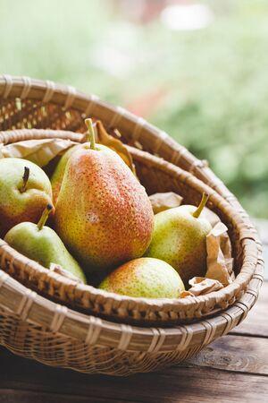 Fresh Forelle Pears Stok Fotoğraf