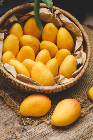 Little ripe mangoes from Vietnam