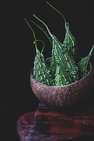 Green bitter melons Stock fotó