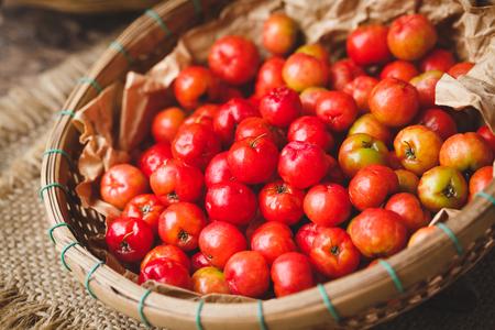 Babados cherry fruits-Malpighia glabra fruits Stock Photo