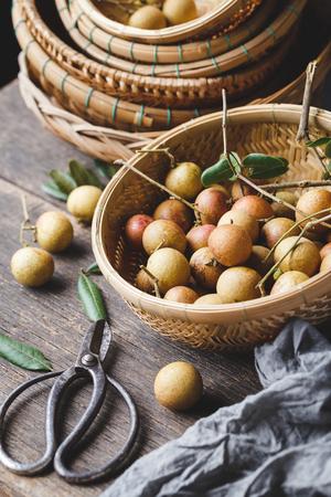 Fresh longan fruits