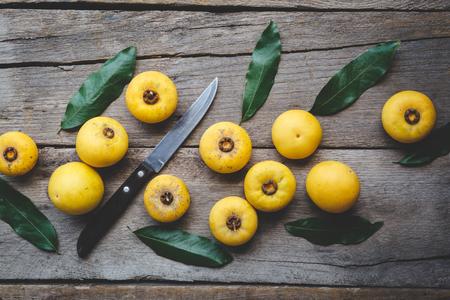 Gold apple fruits-Diospyros decandra fruits Banco de Imagens
