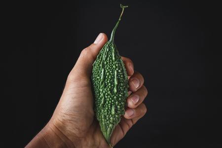 Fresh green bitter melon