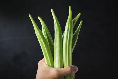 Fresh Okra-Lady fingers Banco de Imagens