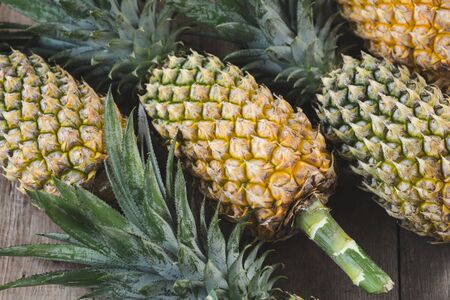 Fresh pineapples on the