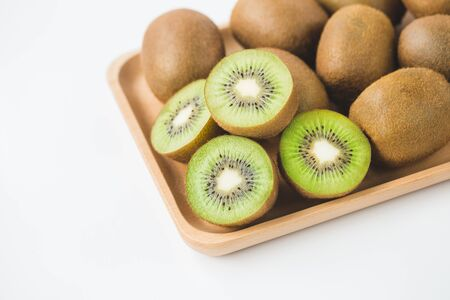 Fresh kiwi on the white background