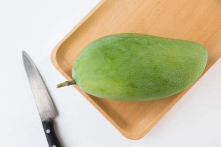 Big green mango- Healthy fruit 免版税图像 - 152115652