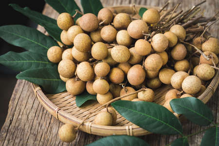 Fresh longan fruit- Sweet fruit 免版税图像 - 152115718