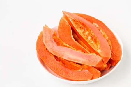 Fresh papaya fruit-Healthy fruit 免版税图像 - 152115741