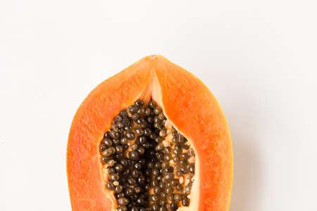 Fresh papaya fruit-Healthy fruit 版權商用圖片 - 152115743