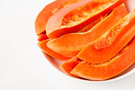 Fresh papaya fruit-Healthy fruit 免版税图像 - 152115748